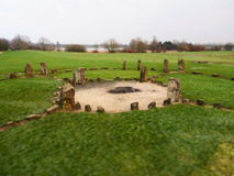 Henge de piedra Milton Keynes Imagen de archivo