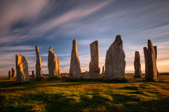 Henge di Callanish Fotografia Stock