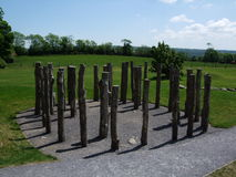 Henge di Knowth o cerchio di legno del legname immagine stock libera da diritti
