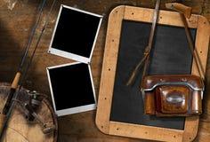 Hengel en Oude Uitstekende Camera Royalty-vrije Stock Foto's