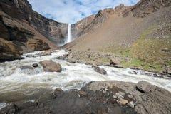 Hengifoss瀑布,冰岛 库存图片