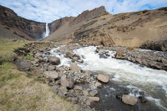 Hengifoss siklawa, Iceland Obraz Royalty Free
