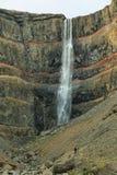 Hengifoss siklawa w Iceland Obraz Stock