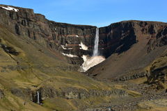 Hengifoss waterfall in Iceland Royalty Free Stock Photo