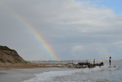 Hengisbury Head Rainbow Stock Image