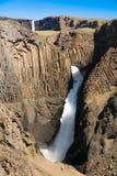 Hengisfoss und Latlanesfoss stockbild