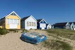 Hengistbury głowy plaży budy Obraz Royalty Free