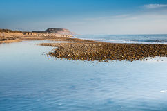 Hengistbury Head. Viewed from Southbourne beach on a winters afternoon Stock Photos
