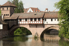 Henkersteg bridge, Nuremberg, Germany Stock Image