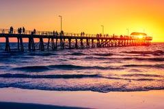 Henley Beach Jetty, Australia Meridionale Immagine Stock Libera da Diritti
