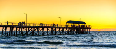 Henley Beach Jetty, Australie du sud Photographie stock