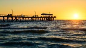 Henley Beach Jetty, sur de Australia Imagen de archivo libre de regalías