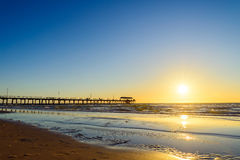 Henley Beach Jetty, Zuid-Australië Stock Foto's