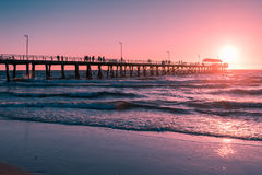 Henley Beach Jetty, Zuid-Australië Stock Fotografie