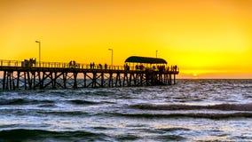 Henley Beach Jetty, Zuid-Australië Royalty-vrije Stock Foto's