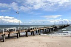 Henley Beach pier in Adelaide South Australia. Seascape view of Henley Beach pier in Adelaide South Australia royalty free stock image