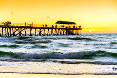 Henley Beach at sunset Stock Photos