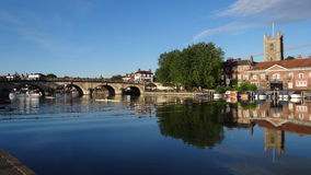 Henley Bridge Henley-på-Themsen, UK Royaltyfri Bild