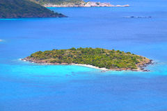 Henley Cay - US Virgin Islands. View of Henley Cay from Saint John in the US Virgin Islands Stock Photos