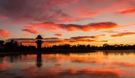 Henley Lake Sunrise Stock Photo