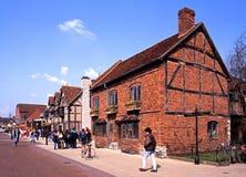 Henley Street, Stratford-nach-Avon stockfoto