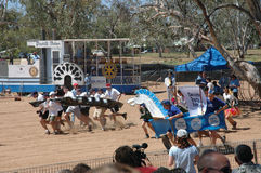 Henley on Todd Regatta. The Henley on Todd Regatta is a boat race in the dry and sandy bed of the Todd River Alice Springs Northern Territory Australia. It is Royalty Free Stock Photography