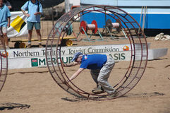 Henley on Todd Regatta. The Henley on Todd Regatta, is a fun day held in the dry sandy bed of the Todd River, Alice Springs, in the Northern Territory Australia Stock Image