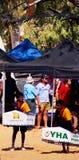 Henley-On-Todd Regatta, Kayak Race. Kayak race competitors at the iconic Henley-On-Todd Regatta (dry boat race) arena in Alice Springs (2010 event Stock Images