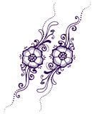 Hennè floreale di Paisley Immagine Stock Libera da Diritti