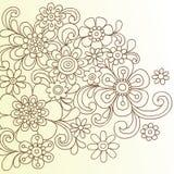 Henna αφηρημένο διάνυσμα Doodle λουλουδιών ελεύθερη απεικόνιση δικαιώματος