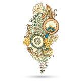 Henna αφηρημένο διανυσματικό στοιχείο του Paisley Mehndi. Στοκ Φωτογραφίες