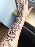 Henna βραχίονας Στοκ εικόνες με δικαίωμα ελεύθερης χρήσης