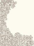 Henna διάνυσμα κήπων λουλουδιών Doodle ελεύθερη απεικόνιση δικαιώματος
