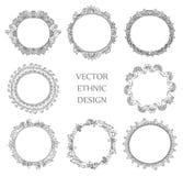 Henna δερματοστιξιών σύνολο σχεδίων Στοκ φωτογραφίες με δικαίωμα ελεύθερης χρήσης