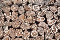 Henna ξύλινα γραμματόσημα Στοκ εικόνες με δικαίωμα ελεύθερης χρήσης