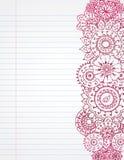 henna σημειωματάριο Στοκ Εικόνα