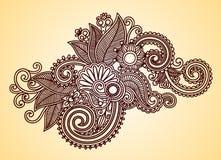 henna στοιχείων σχεδίου Στοκ εικόνες με δικαίωμα ελεύθερης χρήσης