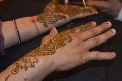 Henna σχέδιο στοκ φωτογραφία