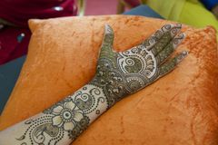 Henna τέχνη Στοκ φωτογραφία με δικαίωμα ελεύθερης χρήσης