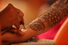 Henna τέχνη Στοκ Φωτογραφίες
