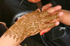 Henna χέρι Στοκ φωτογραφία με δικαίωμα ελεύθερης χρήσης