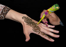 Henna χέρι στοκ φωτογραφίες με δικαίωμα ελεύθερης χρήσης