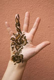 henna χεριών Στοκ φωτογραφία με δικαίωμα ελεύθερης χρήσης