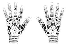 henna χεριών Στοκ εικόνα με δικαίωμα ελεύθερης χρήσης