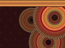 Henna χρώματος υπόβαθρο Mandala Στοκ φωτογραφία με δικαίωμα ελεύθερης χρήσης