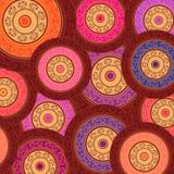 Henna χρώματος υπόβαθρο Mandala Στοκ Φωτογραφίες