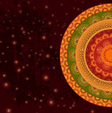 Henna χρώματος υπόβαθρο Mandala Στοκ Εικόνες