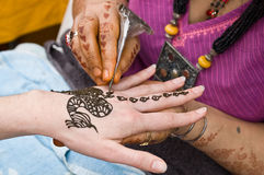 henna 2 δερματοστιξία Στοκ Εικόνες