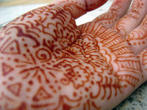Henna. Traditional henna painting Royalty Free Stock Photo