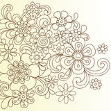 Henna Abstract Flower Doodle Vector Stock Images